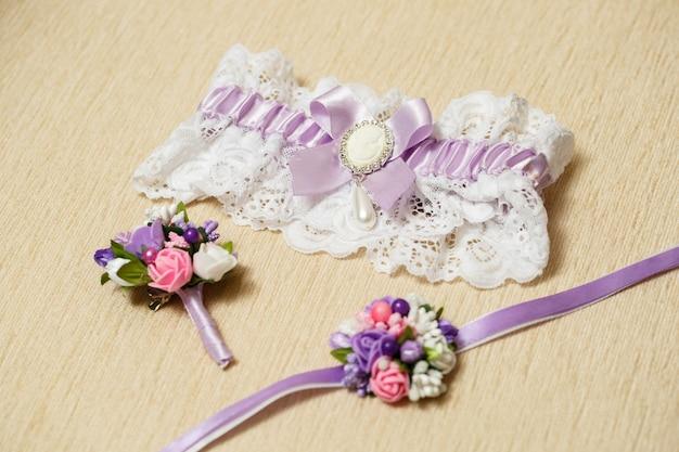 Trouwaccessoires bruid op de trouwdag
