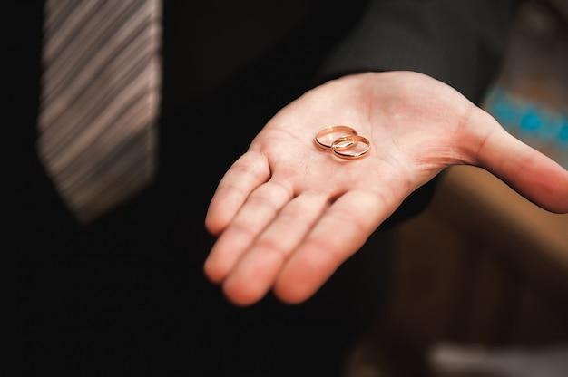 Trouwdetails - trouwringen als symbool van het gelukkige leven