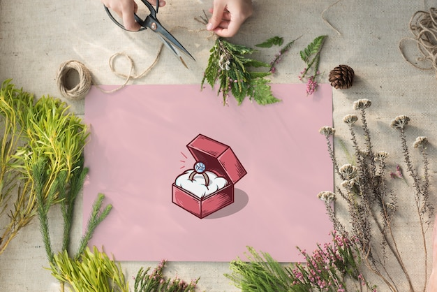 Trouwring box voorstel grafisch concept