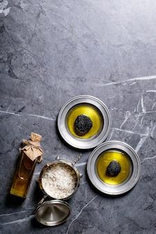 Truffelpaddestoel met olie
