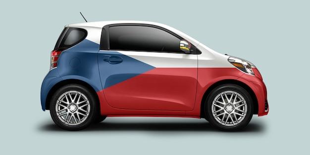 Tsjechië auto met tsjechische vlag