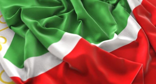 Tsjechische republiek vlag ruffled mooi wapperende macro close-up shot