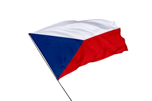 Tsjechische vlag op een witte achtergrond
