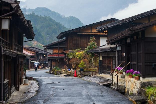Tsumago juku oude stad, kiso vallei