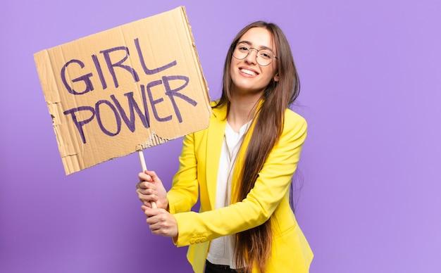 Tty zakenvrouw feministe. girl power concept