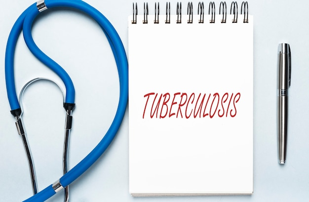Tuberculose woord, inscriptie. tb-infectie of virus.