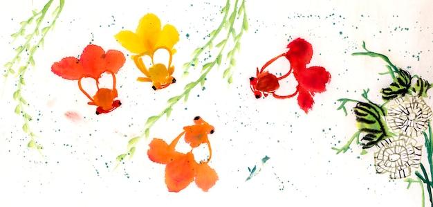 Tuin wit mooi kunst element japan