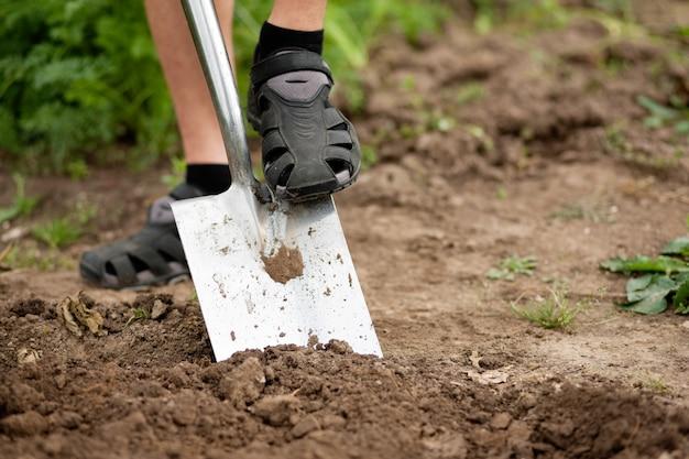 Tuinieren - graven over de grond