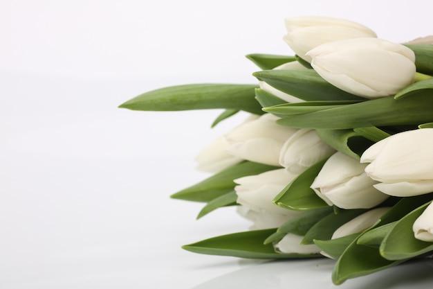 Tulpen bloem boeket valentijnsdag kaart concept