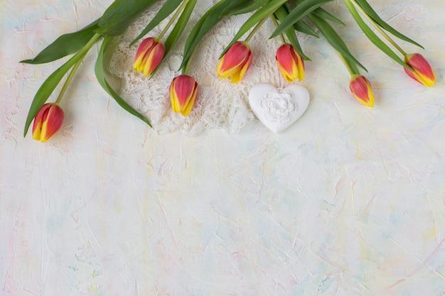 Tulpen, kant en hart