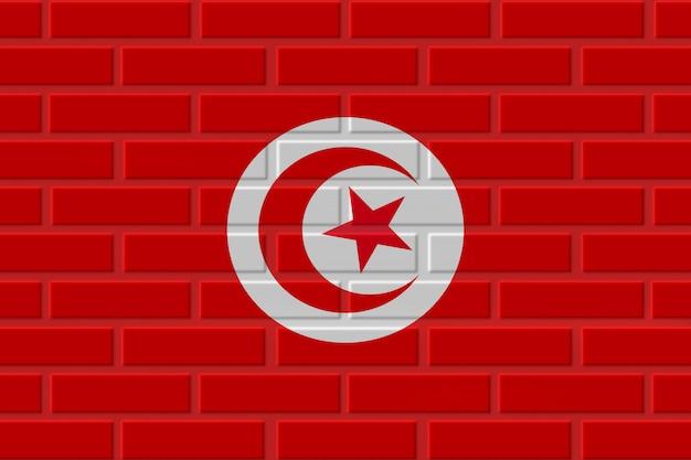 Tunesië baksteen vlag illustratie