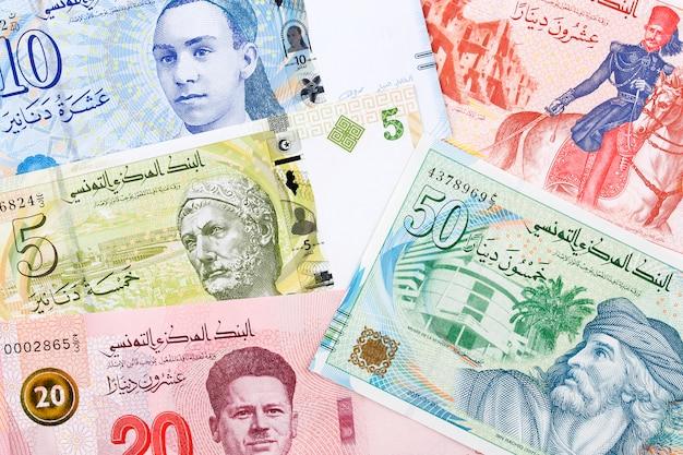 Tunesisch geld, een zakelijke achtergrond