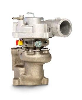 Turbocharger. turbine voor auto geïsoleerd op wit