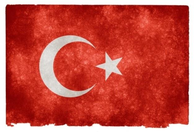 Turkey grunge vlag