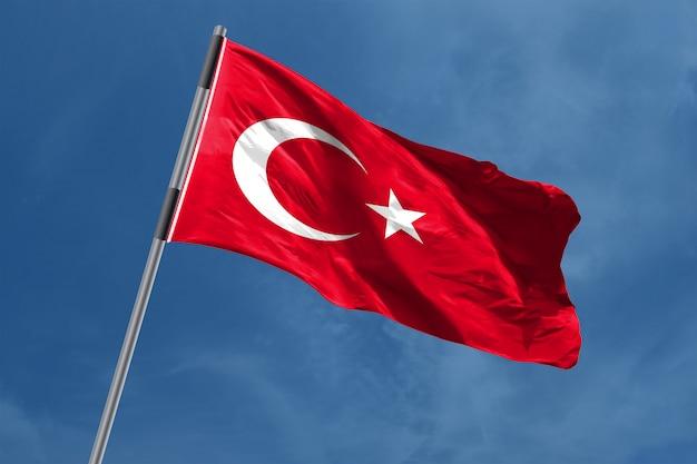 Turkije vlag zwaaien