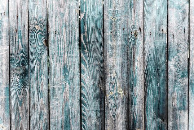 Turkoois blauw oud vintage hout met verticale planken. grunge houten achtergrond.