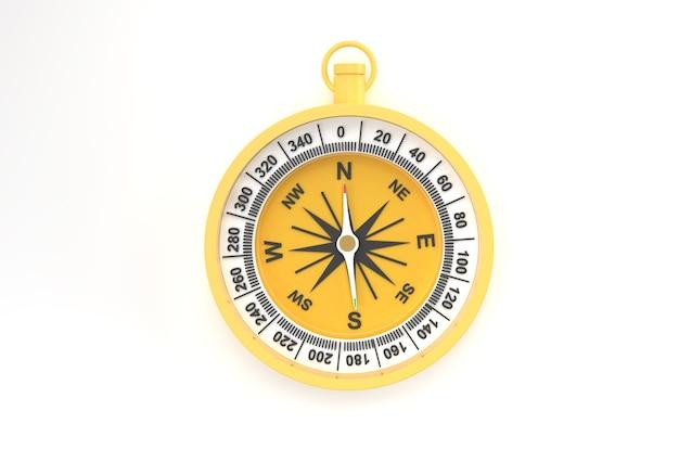 Turkoois kompas 3d render illustratie.