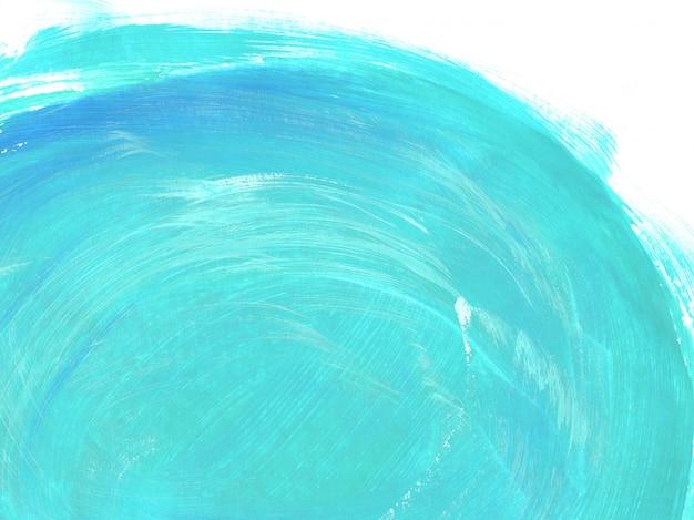 Turkooise penseelstreken abstracte achtergrond