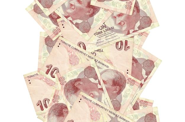 Turkse lira's rekeningen vliegen naar beneden geïsoleerd