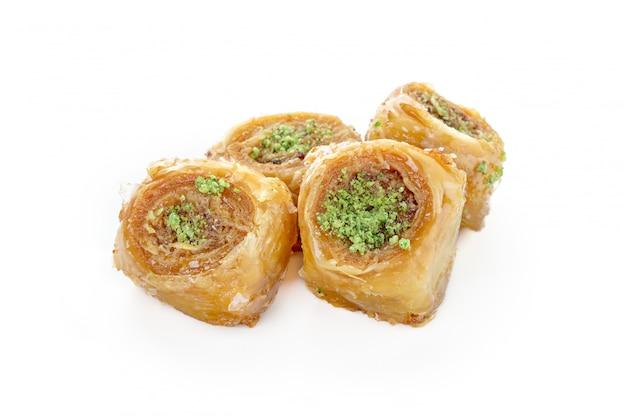 Turkse snoepjes op wit