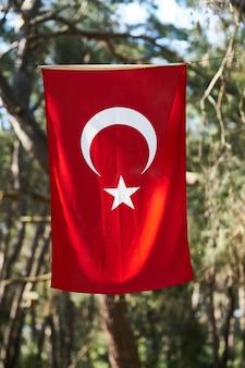 Turkse vlag achtergrond
