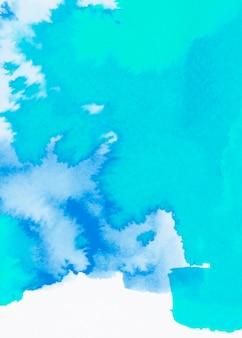 Turquoise en blauwe aquarel hand getekende lijn achtergrond