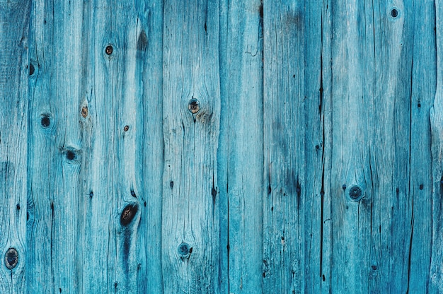 Turquoise houtstructuur achtergrond, bovenaanzicht houten plank.