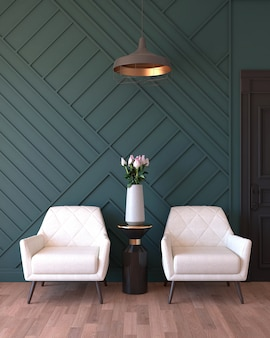 Turquoise woonkamer