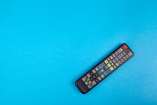 Tv afstandsbediening ingesteld op blauwe bovenaanzicht