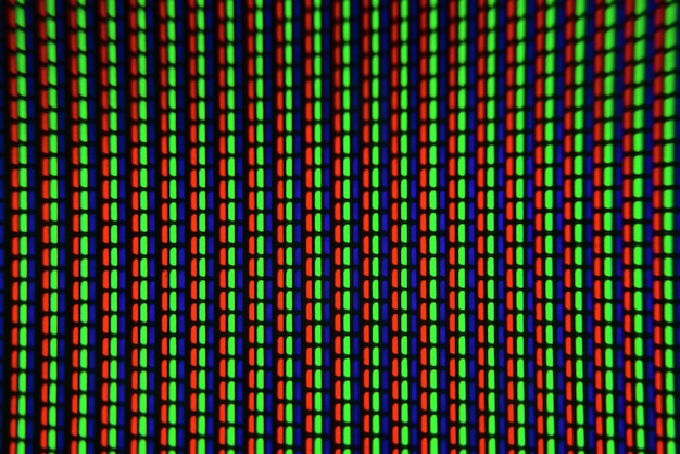 Tv-pixels close-up. macro scherm pixel.