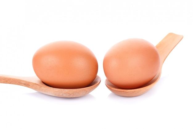 Twee geïsoleerde eieren