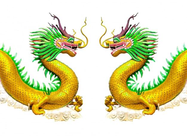 Twee gouden draken