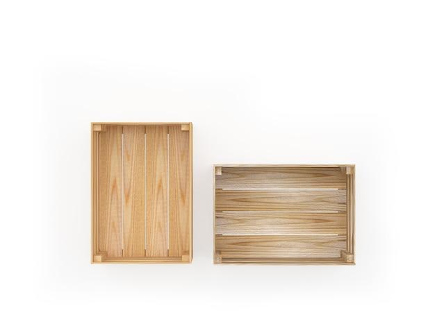 Twee houten kisten