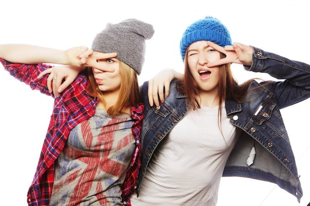 Twee jonge vriendinnen