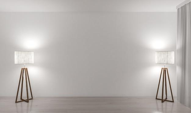 Twee lampen en lege muur