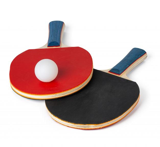 Twee pingpongrackets