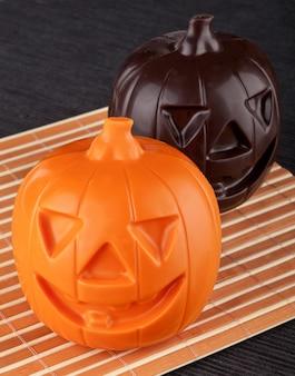 Twee pompoenchocolade halloween