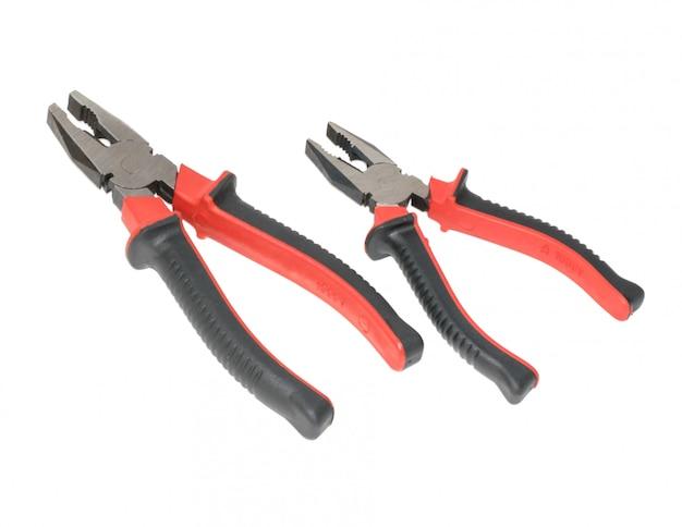 Twee rode en zwarte buigtang geïsoleerd