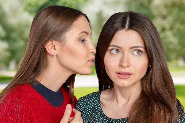Twee vrouwen roddelen