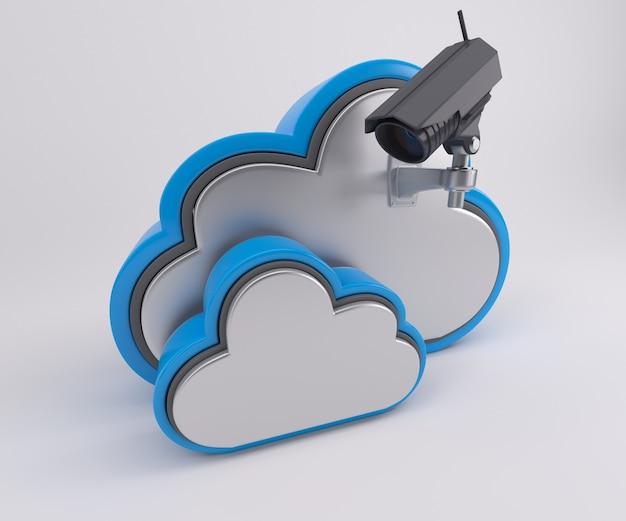 Twee wolken met een camera