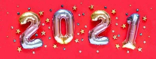 Tweeduizend eenentwintig folieballonnen