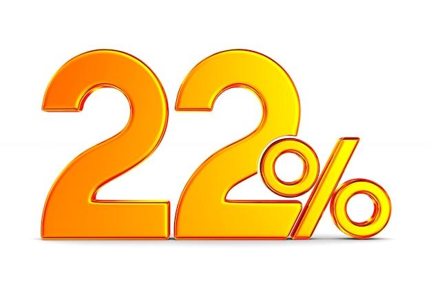 Tweeëntwintig procent op wit