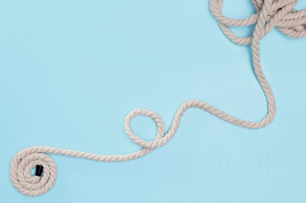 Twijn sterk wit gebogen touw