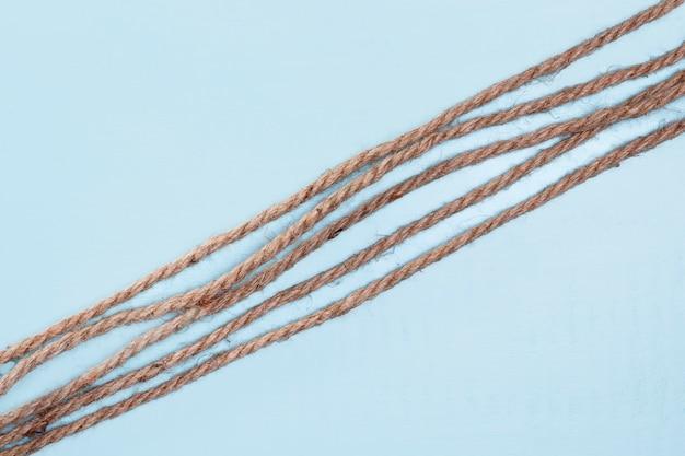 Twijn sterke beige touw schuine lijnen