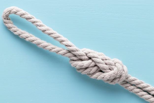 Twijn sterke witte touw bovenaanzicht