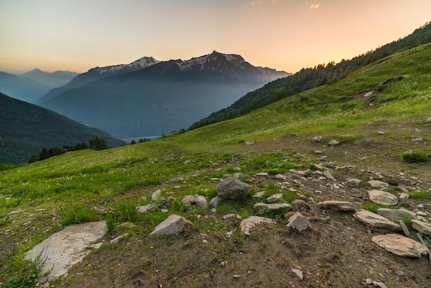 Twilight in de alpen