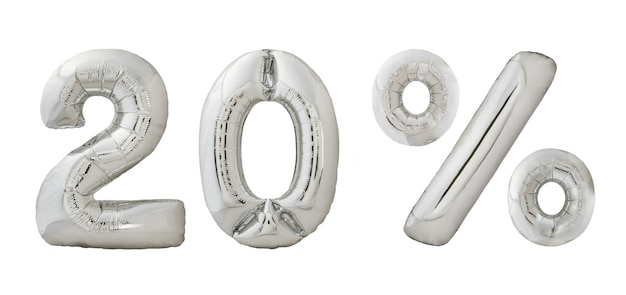 Twintig procent korting chroom ballonnen