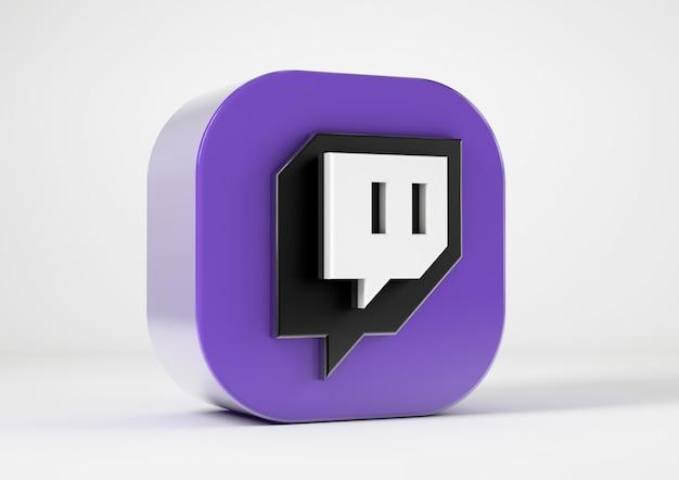 Twitch-pictogram geïsoleerd van de achtergrond