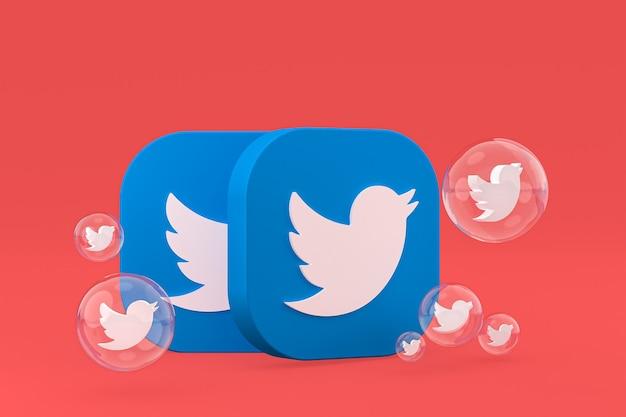 Twitter pictogrammen 3d render