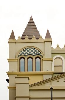Tympanum van een kasteel